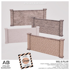 Atelier Burgundy . Wall Pillar