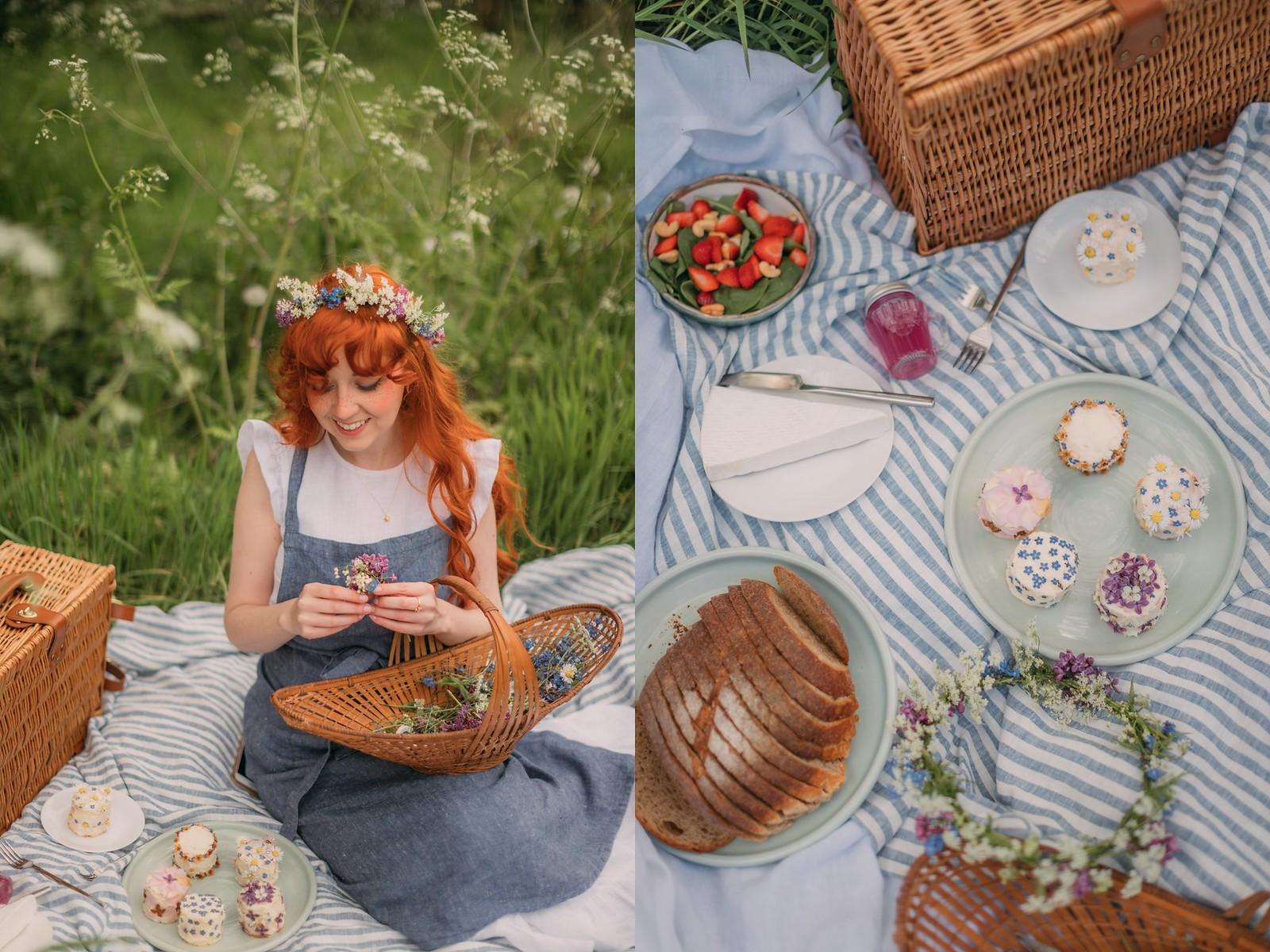 spring hobbit,hobbithearted, cottagecore, cottagecore dress, cottagefairy, fairycore, magiclinen, folk fashion, picnic, spring picnic, linen picnic