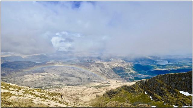 above the rainbow on Ben Lomond summit