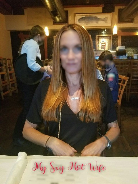 HotWife Necklace Out At Dinner