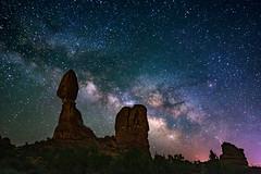 Balanced Rock under the Milky Way