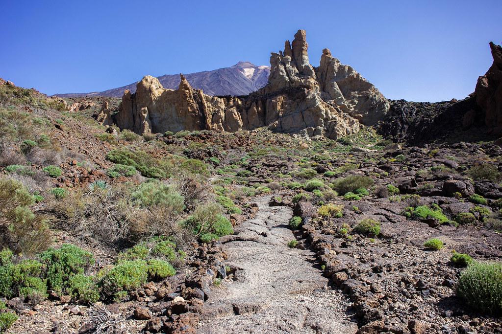 Sendero Roques de García en el Parque Nacional del Teide