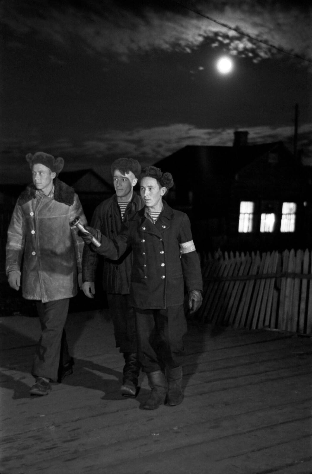 1959. Ночной комсомольский патруль в Игарке