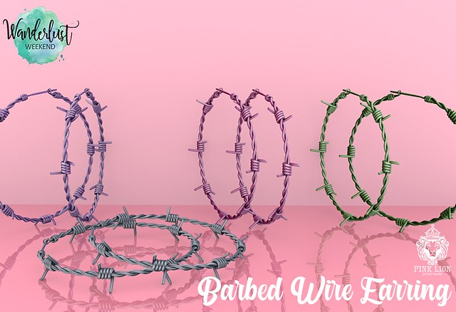 Barbed Wire Earring