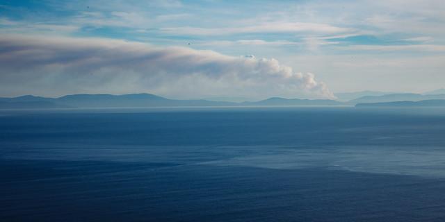 Burning in the distance #1, Tasman National Park, Tasmania