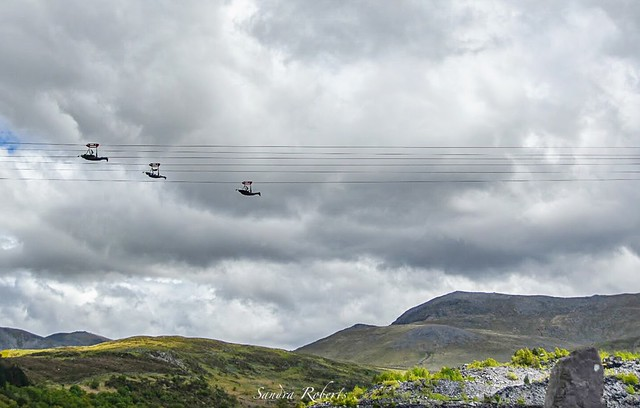 Fastest zip line in the world. North Wales.