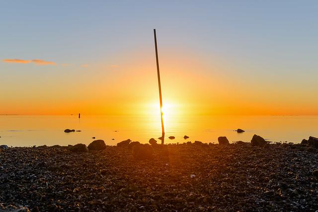 vlieland sunrise at neap tide