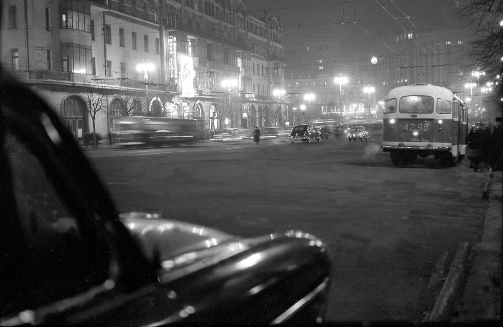 1959. Охотный ряд, Вечерняя Москва
