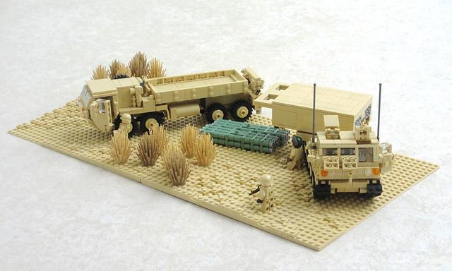Desert Storm MLRS diorama