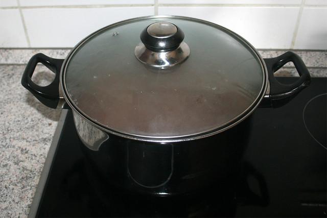 25 - Simmer with lid on / Geschlossen köcheln lassen