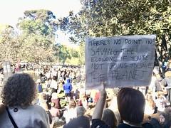 Treasury Gardens crowd - Climate Strike Melbourne 21 May 2021