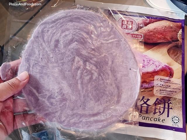 Jia You Liang Yuan Sweet Potato Purple pancake