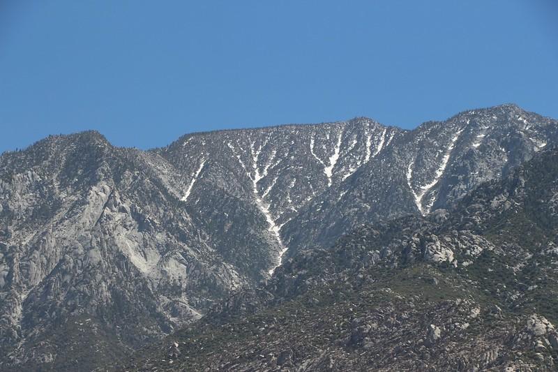 Zoomed-in view of upper Snow Creek and San Jacinto Peak