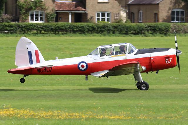 G-BWMX/WG407  -  De Havilland Canada DHC-1 Chipmunk c/n C1/0481  -  EGTH 22/5/21