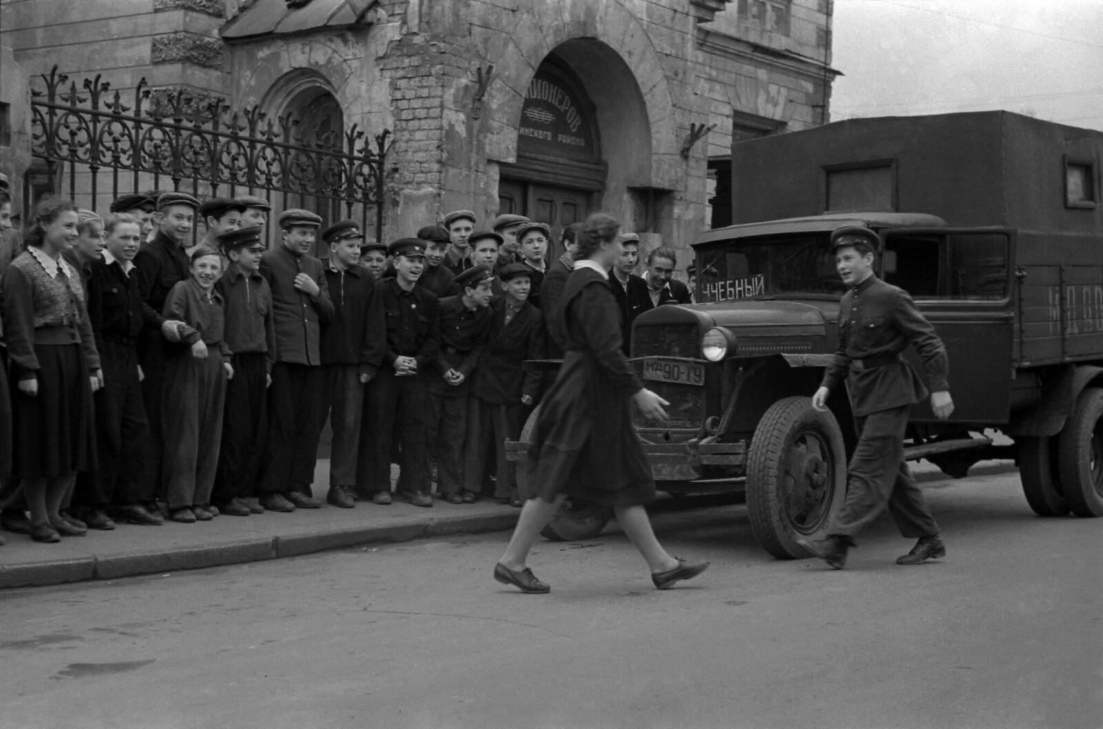 1956. Москва. Школа юных автомобилистов