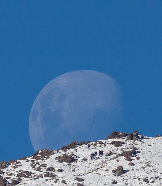 Moon and Trekking