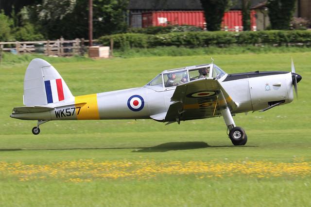 G-BCYM/WK577  -  De Havilland Canada DHC-1 Chipmunk T10 c/n C1/0598  -  EGTH 22-5-21