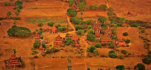 MYANMAR, Burma - Ballonfahrt  früh morgens über das historische Bagan, 78335/13707