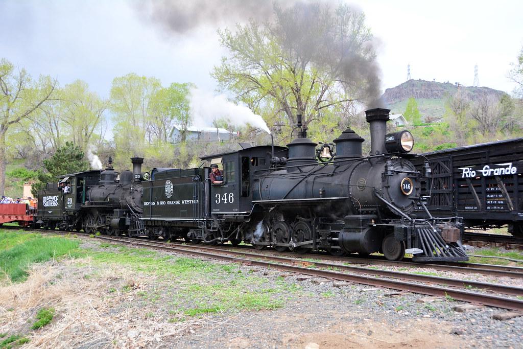Colorado RR Museum #346 & #20 by Jim Strain