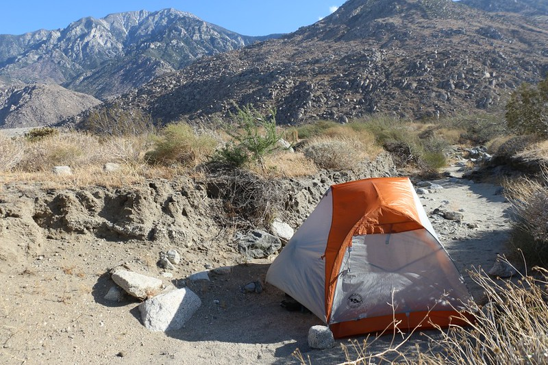 It was quite windy, but I found a spot for my tent in a sandy wash that was only slightly protected from the gusts