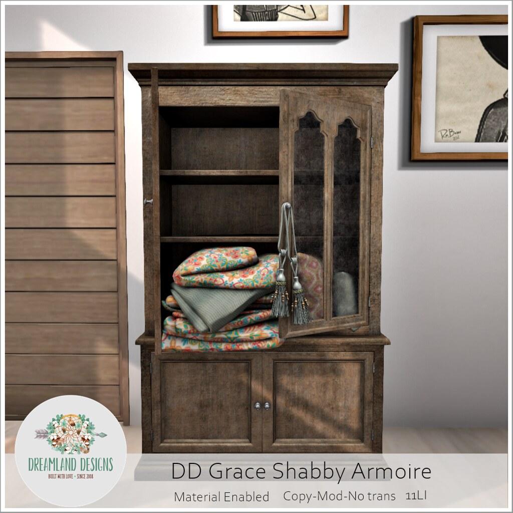 DD Grace Shabby Armoire AD