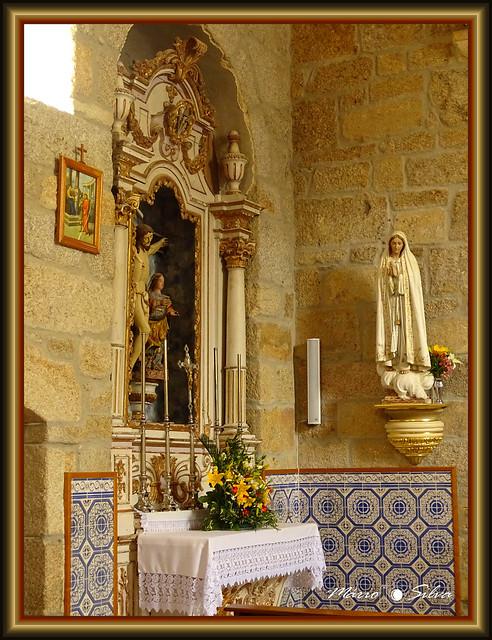 Interior da igreja matriz de Águas Frias – Chaves – Portugal