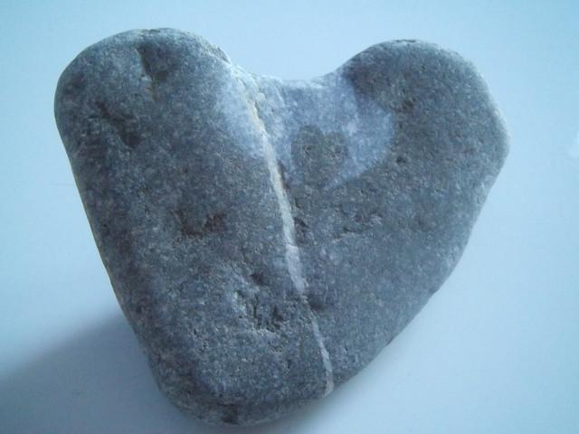 Natural pebble double heart
