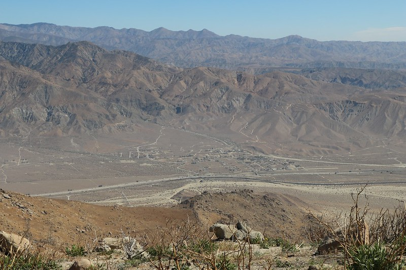 Looking north across San Gorgonio Pass and I-10