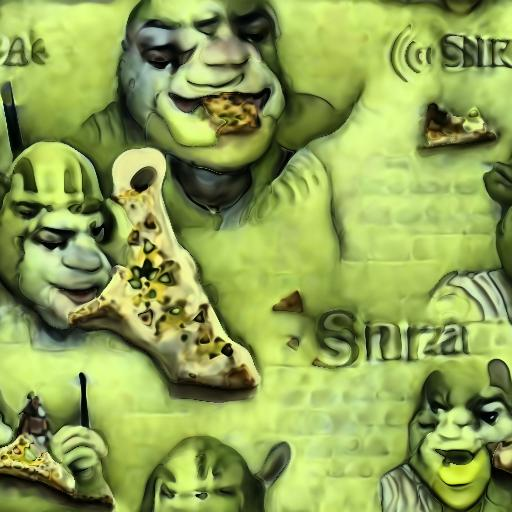 Deep Daze Fourier - Shrek Eating Pizza