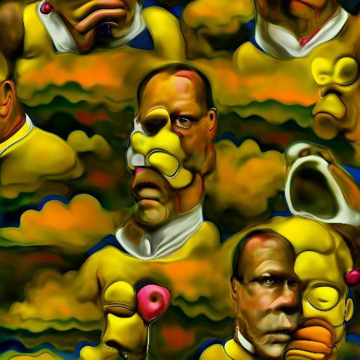 Deep Daze Fourier - Surrealist Homer Simpson