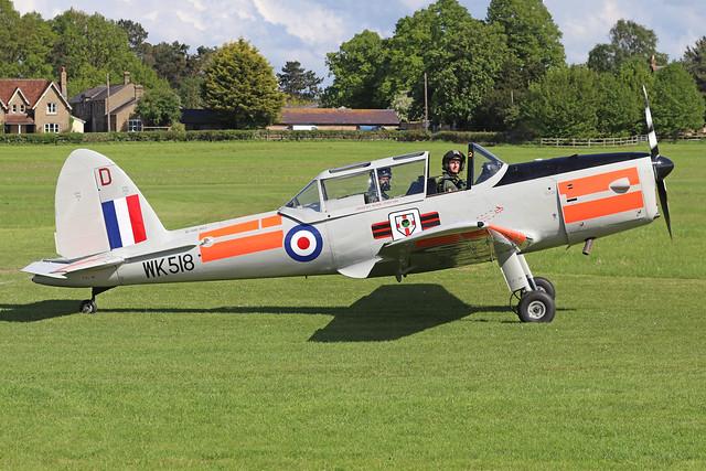 WK518  -  De Havilland Canada DHC-1 Chipmunk T10 c/n C1/0555  -  EGTH 22-5-21