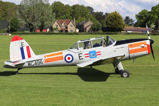 WG486  -  De Havilland Canada DHC-1 Chipmunk T10 c/n C1/0536  -  EGTH 22/5/21