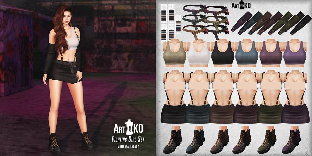 Art&Ko – Fighting Girl Set – The Warehouse Sale