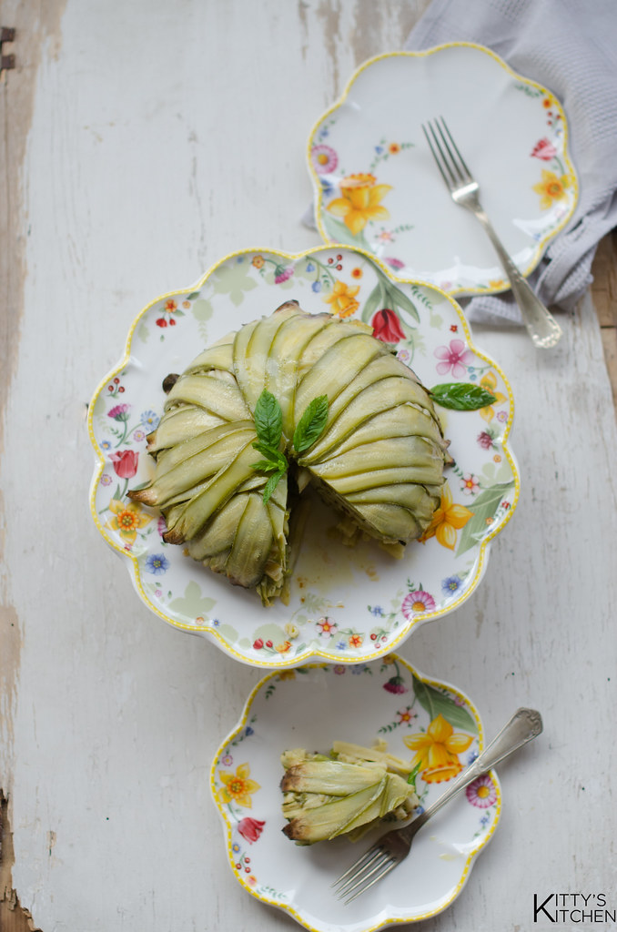 Zuccotto con zucchine fave e menta