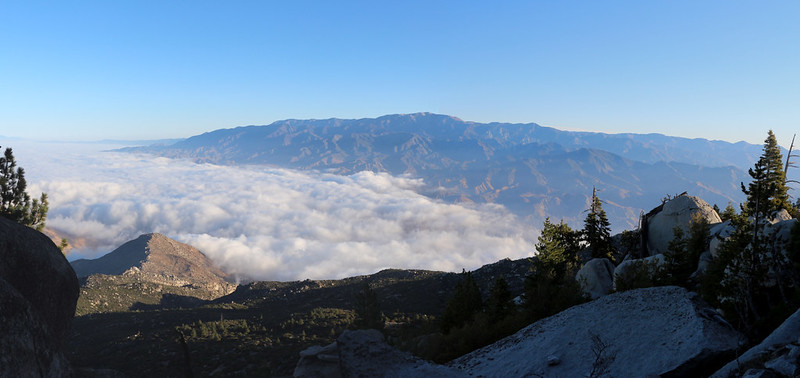 San Gorgonio Mountain and the nine peaks across the way to the north