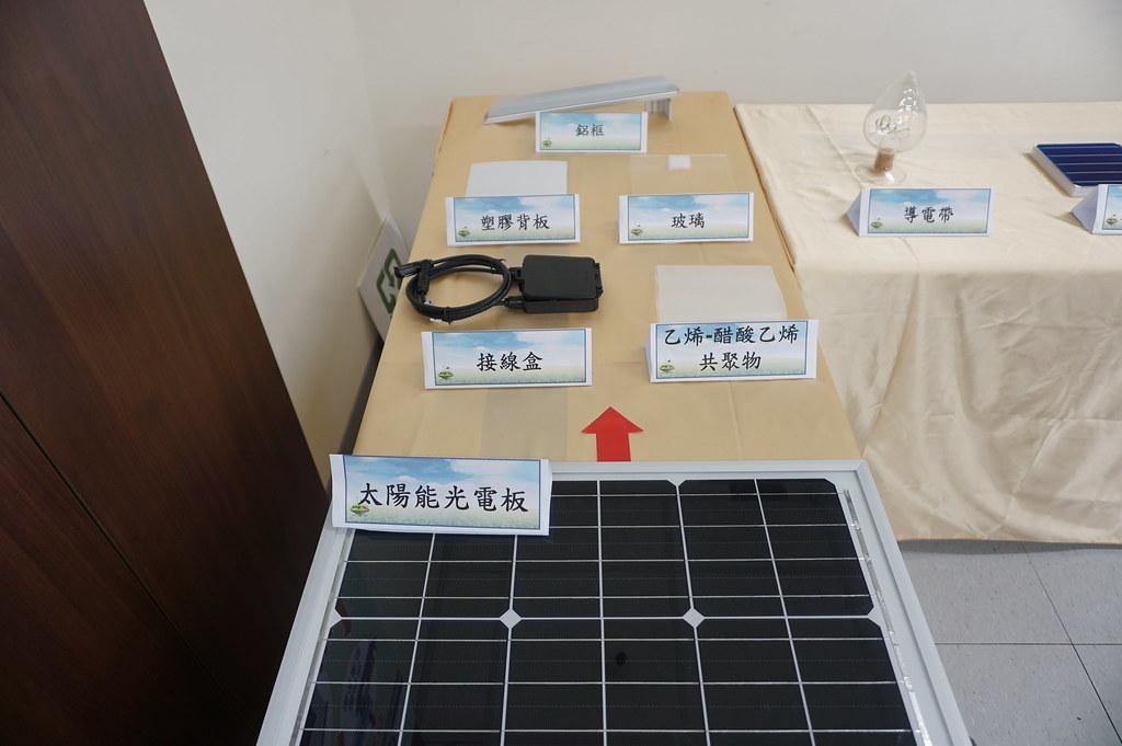廢太陽光電板回收過程產物。 照片來源:環保署