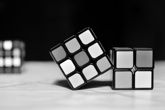Black and White Rubik's Cube - Easy to solve now :)