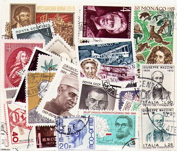 Famous people - 50 different stamps