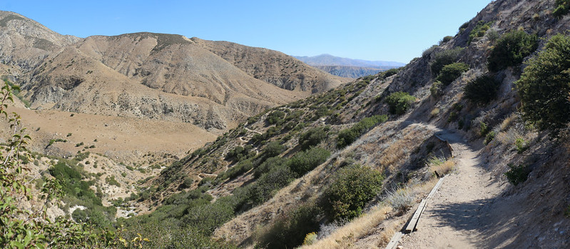Hiking on the PCT toward the Whitewater Preserve - eight miles down and five more to go!