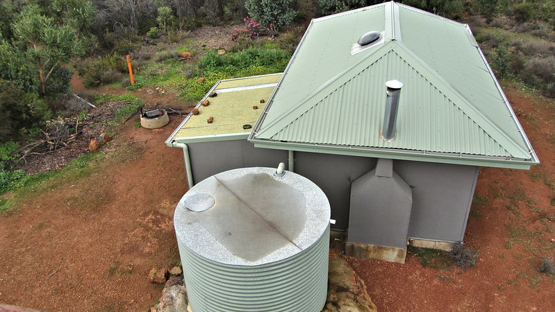 Aerial view of Mount Wells Shelter