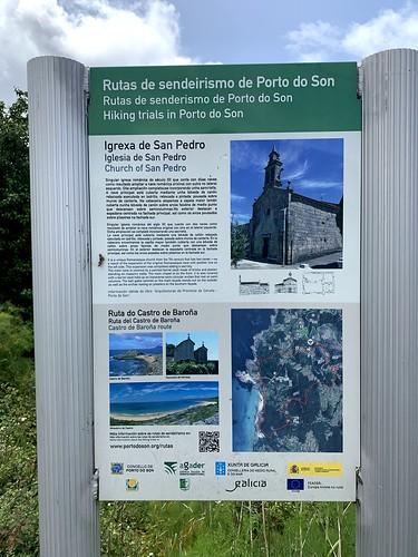 Cartel Senda do Castro de Baroña