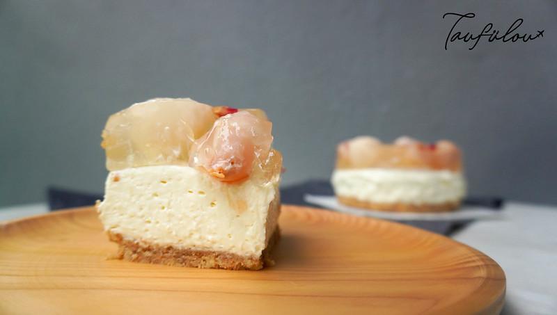 lychee jelly cheesecake