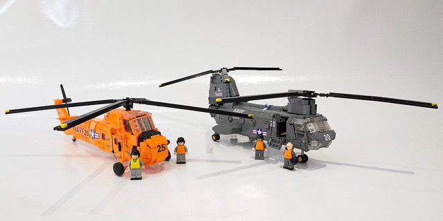 UH-34D Seahorse with UH-46D Sea Knight