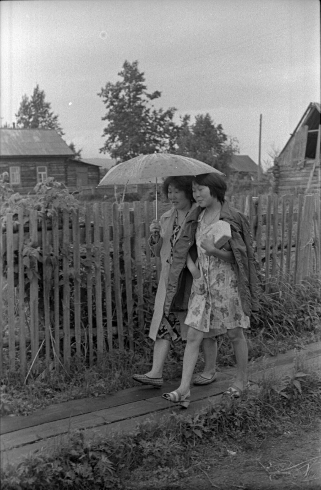 1965. Поселок Ухта Ульчинский на Амуре