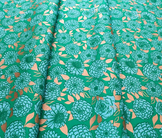 Ruby Star Society Stay Gold RS0022-17M Sparkle Floral Flower Evergreen