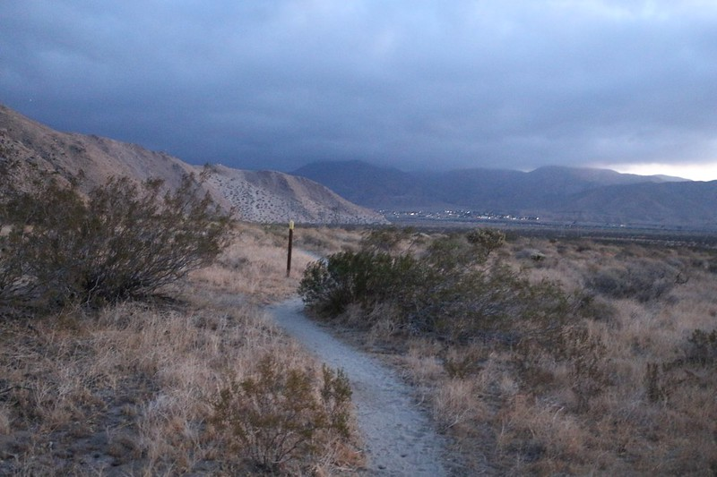 Heading north on the Pacific Crest Trail toward I-10 and San Gorgonio Pass