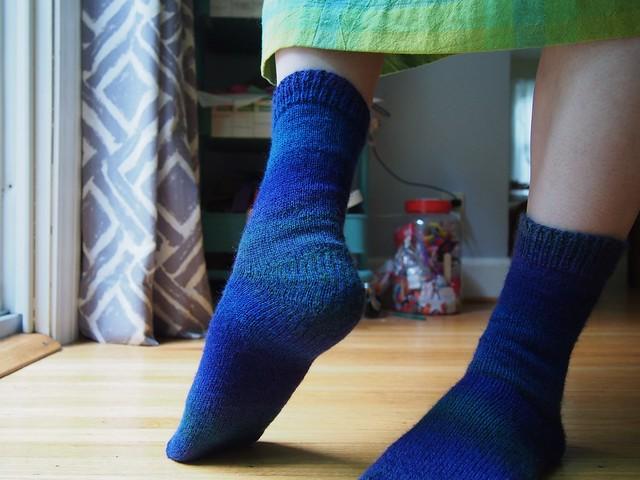Finished socks in Zauberball Crazy