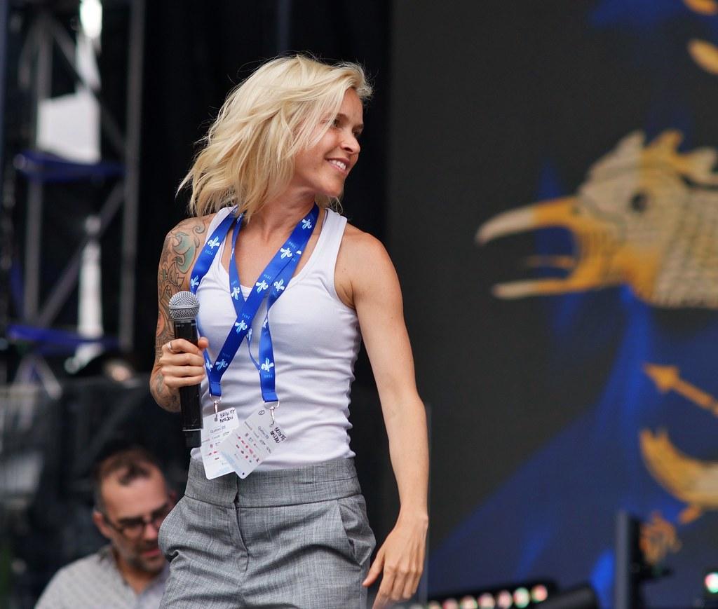 Brigitte Boisjoli, Répétition, Spectacle Saint-Jean, Place des Festivals, Sony A99, Montréal, 23 juin 2018 (5)