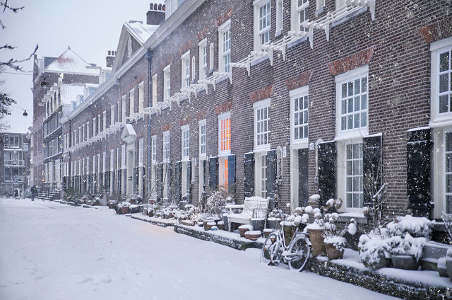 Karthuizerhof courtyard  Anno 1650 in the cold winter of 2021