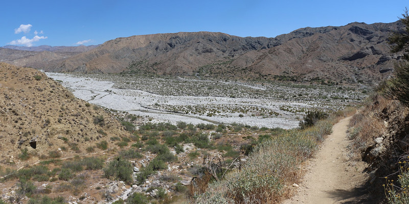 Panorama view over the Whitewater River valley as I headed down the switchbacks